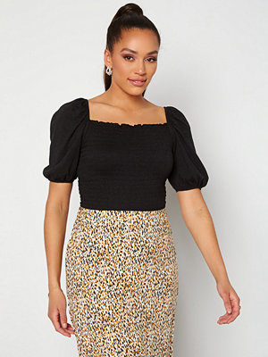Only Nalena 2/4 Puff Smock Top black