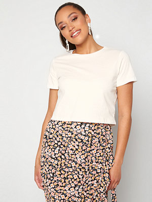 Trendyol Eco Cotton Cropped T-Shirt Ecru