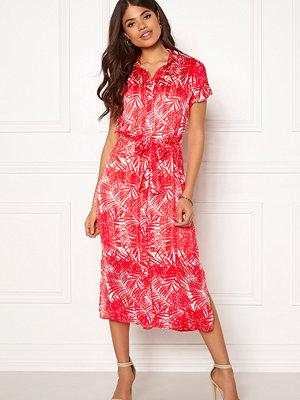 Object Palm S/S Midi Dress Poppy Red