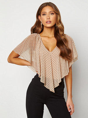 Happy Holly Fanny top Light beige / Dotted