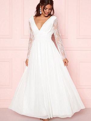 Y.a.s Adela LS Maxi Dress Star White