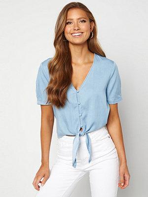 Vila Mira Bista S/S Shirt Light Blue Denim