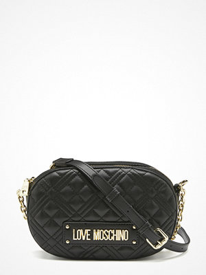 Love Moschino New Shiny Quilted Bag 000 Black