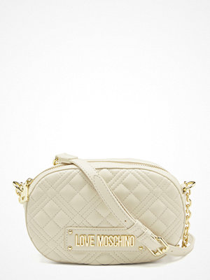 Love Moschino New Shiny Quilted Bag 110 Ivory