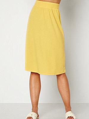 Happy Holly Charlie rib a-line skirt Yellow