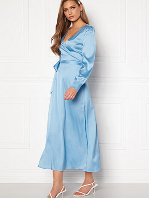 Chiara Forthi Ezra Wrap Maxi Dress Dusty blue