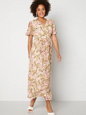 Vero Moda Wonda S/S Wrap Maxi Dress Birch AOP: Siga