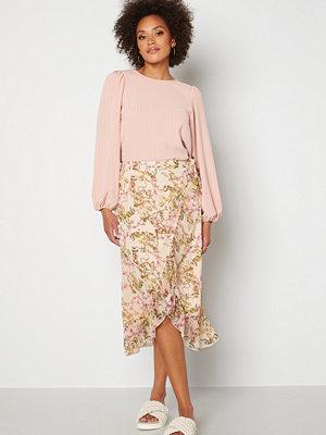 Vero Moda Wonda H/W Wrap Skirt Birch AOP: Siga