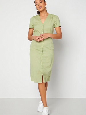 Alexandra Nilsson X Bubbleroom Button Front Midi Dress Dusty green