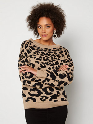 Ax Paris Animal knitted Jumper Stone