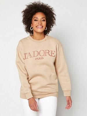 Ax Paris Jadore Crew Neck Sweatshirt Stone