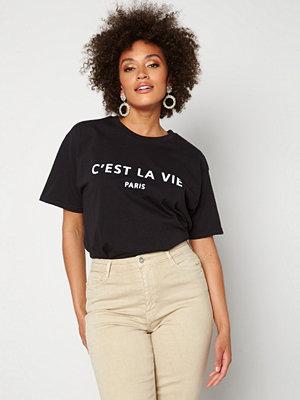 Ax Paris Cest La Vie T-shirt Black
