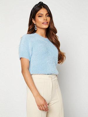 Blue Vanilla Fluffy Knit Top Blue