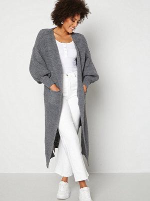 Blue Vanilla Edge To Edge Longline Cardigan Grey