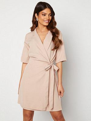 Trendyol Mandy S/S Wrap Dress Tas/Stone