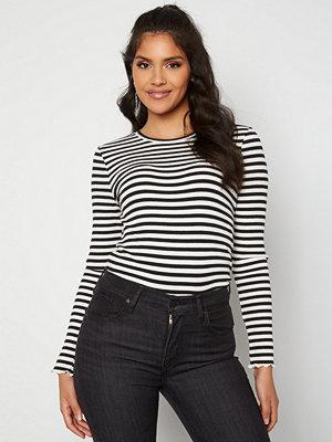 Selected Femme Anna LS Crew Neck Tee Black Stripes