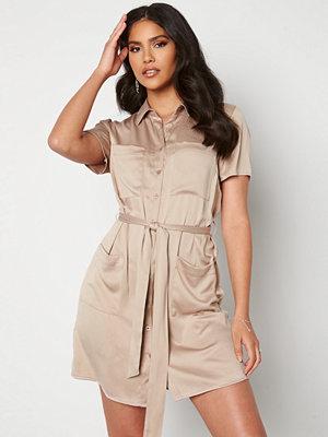 Bubbleroom Liwia shirt dress Light brown