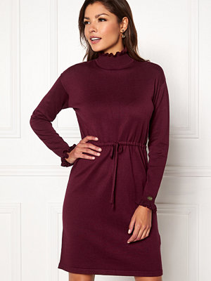 Chiara Forthi Daphne knitted dress Wine-red