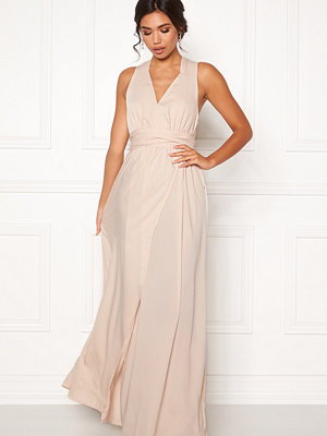 Bubbleroom Marianna cross back gown Champagne