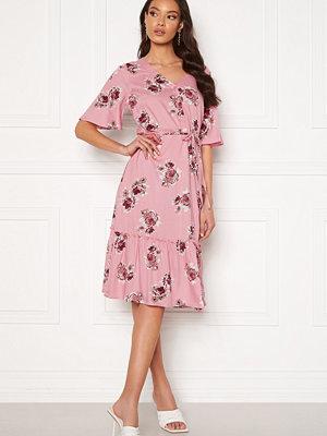 Happy Holly Eliza flounce dress Pink / Patterned