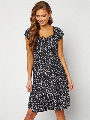 Happy Holly Tessan dress Beige / Black
