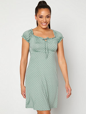 Happy Holly Tessan dress Light mint / Offwhite