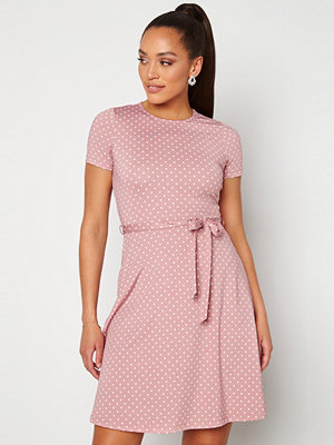 Happy Holly Tova ss dress Pink / Offwhite