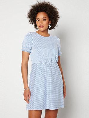 Vila Milac O-Neck S/S Dress Cashmere Blue Stripe