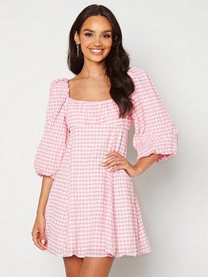 Forever New Scoop Neck Mini Dress Pink/White Gingham