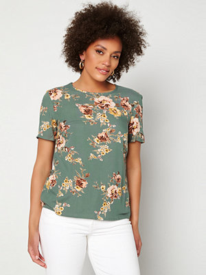 Happy Holly Emily woven top Dusty green / Patterned