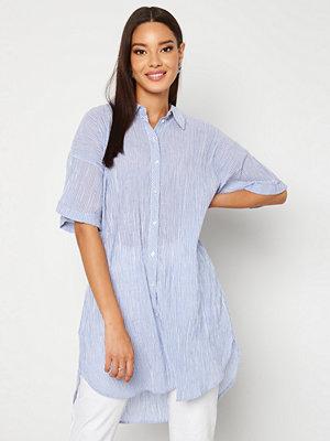 Pieces Terra SS Long Shirt Vista Blue Stripes