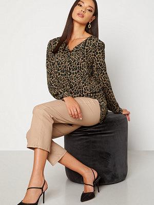 Vila Lucy L/S Print Shirt Tigers Eye AOP Lia