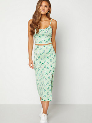 Bubbleroom Thelsie midi skirt Green / Floral