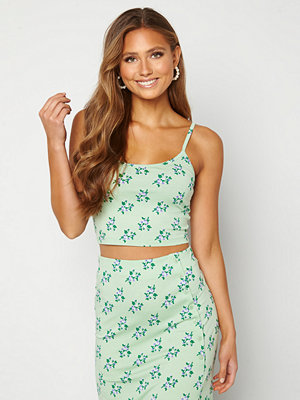 Bubbleroom Thelise singlet Green / Floral