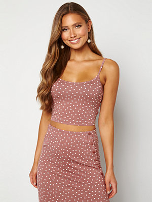 Bubbleroom Thelise singlet Dark dusty pink / Dotted