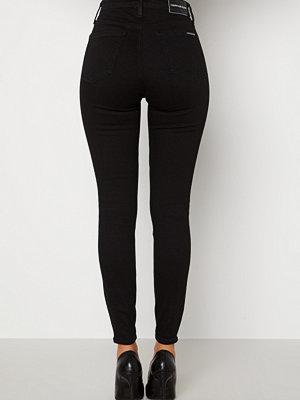 Calvin Klein Jeans High Rise Skinny Jeans 1BY Denim Black