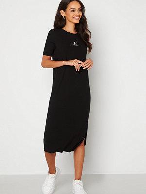 Calvin Klein Jeans Rib Maxi T-shirt Dress BEH Ck Black