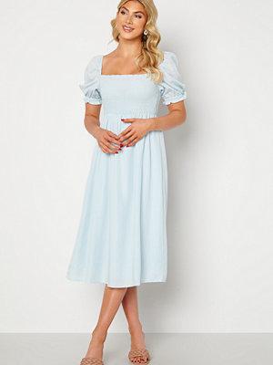 Forever New Puff Sleeve Dress Eggshell Blue