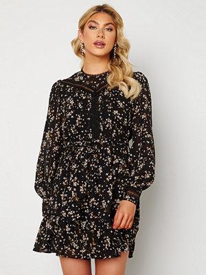 Forever New Sutton Lace Skater Dress Black Jasmine