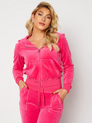 Tröjor - Juicy Couture Cotton Rich Track Top Raspberry Rose
