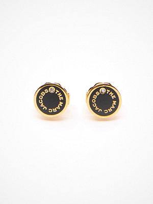 The Marc Jacobs örhängen The Medallion Studs Earrings 001 Black/Gold