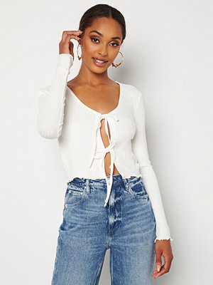 Only Jeanett Life L/S Cardigan Box Top Cloud Dancer
