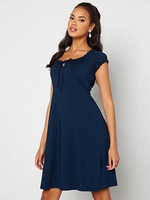 Happy Holly Tessan dress Dark blue