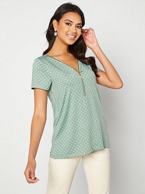 Happy Holly Carrie top Light mint / Offwhite