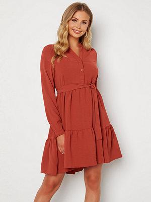 Selected Femme Mivia LS Short Dress Chili Oil