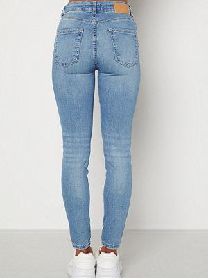 Pieces Delly MW Jeans Light Blue Denim