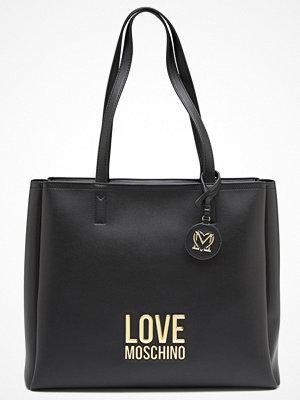 Love Moschino svart axelväska Love Moschino Lettering Bag 00A Black