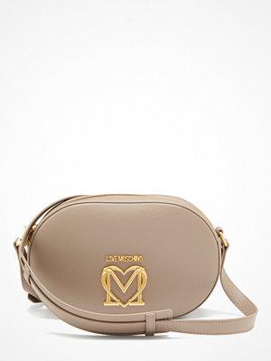 Love Moschino omönstrad axelväska Love Moschino Scarf Bag 001 Grey