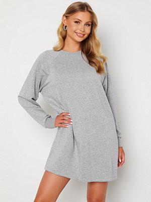 Noisy May Lupa L/S Sweat Dress Ligth Grey Melange