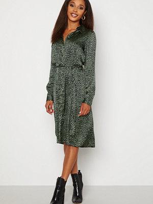Vero Moda Leona Calf Shirt Dress Black Leona AOP